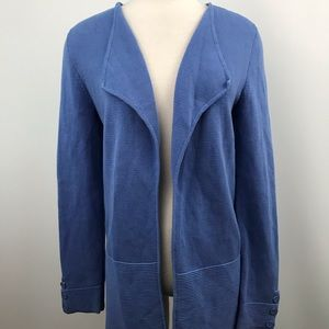 Talbots baby blue open knit cardigan size small